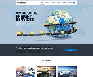 Trucking - Transportation and Logistics Website Template