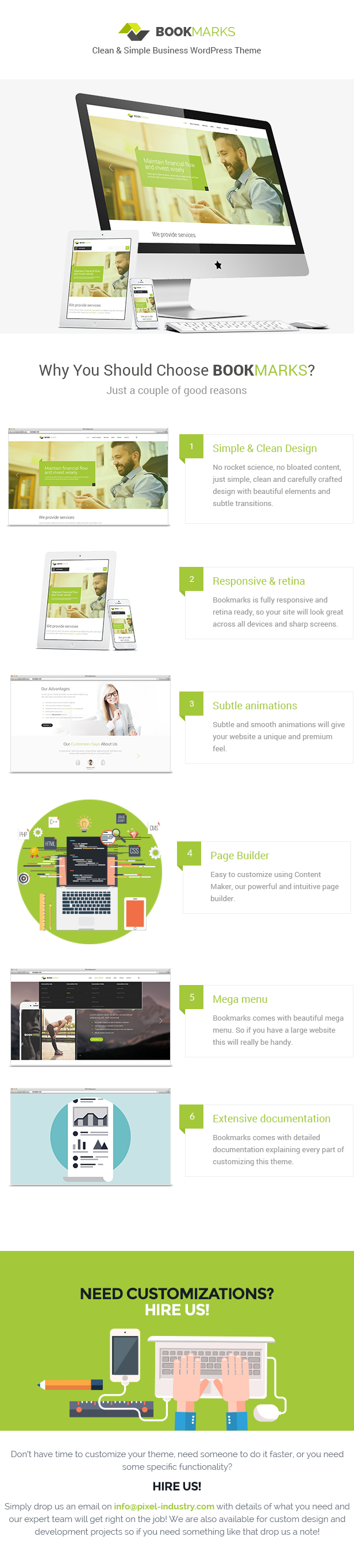 Bookmarks Simple Business WordPress Theme