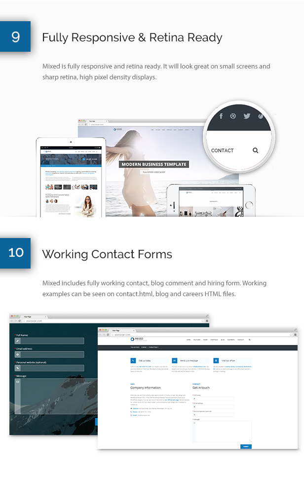 Mixed Modern and Professional HTML Template