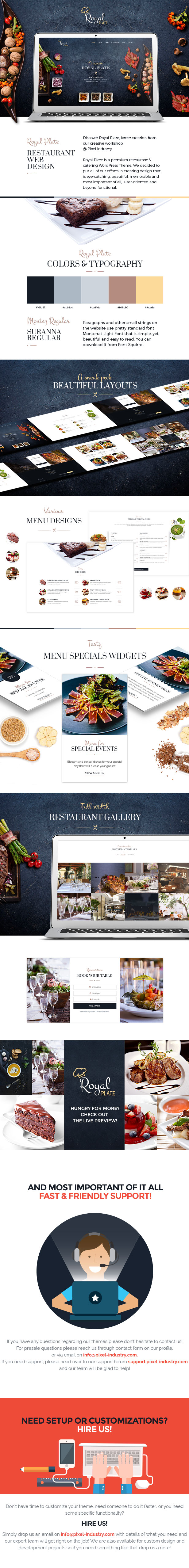 Royal Plate – Restaurant and Catering WordPress Theme (Restaurants &amp Cafes)