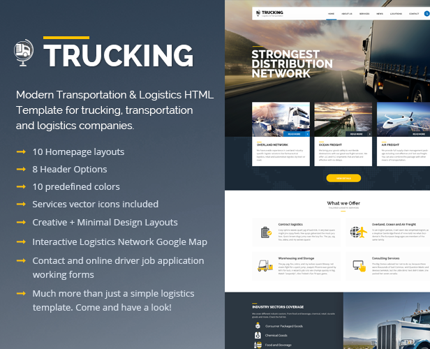 Trucking-Transportation & Logistics HTML Template