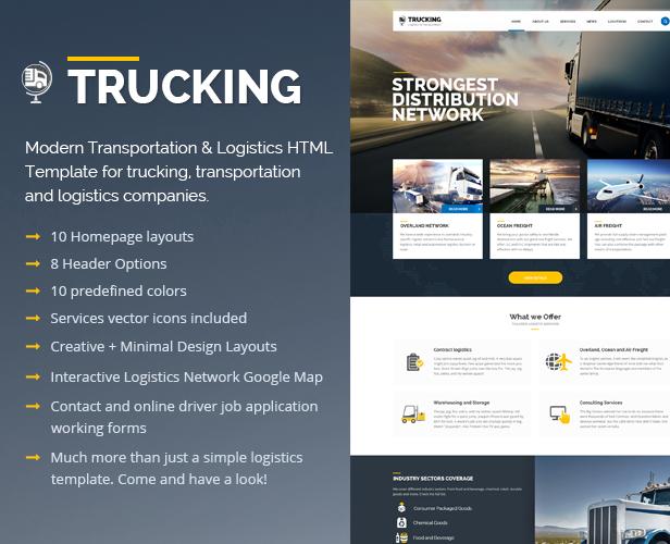 Trucking-Transportation & Logistics HTML Template - 2